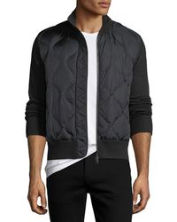 Moncler - Quilted Nylon & Wool-blend Zip-front Cardigan - Lyst