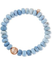 Sydney Evan - 10mm Faceted African Opal Bead Bracelet With 14k Ball Spacer - Lyst