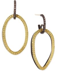 Armenta - Midnight & Yellow Gold Circle Link Drop Earrings With Diamonds - Lyst