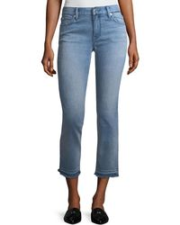 Burberry - Cropped Jeans W/ Frayed Cuffs - Lyst