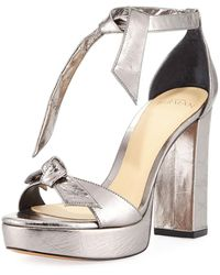 Alexandre Birman - Mabeleh Metallic Leather Platform Sandal - Lyst