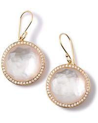 Ippolita - Gold Rock Candy Lollipop Diamond Mother-of-pearl Earrings - Lyst