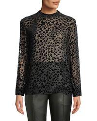 Rag & Bone - Gia Leopard-print Velvet Burnout Tee - Lyst