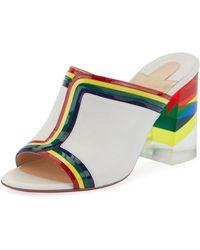 831519df6906 Christian Louboutin - Ranimule 85 Plexi-heel Red Sole Slide Sandals - Lyst