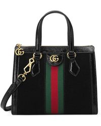 ad0825c92f3758 Gucci Ophidia Medium Top Handle Bag in Black - Save 2% - Lyst