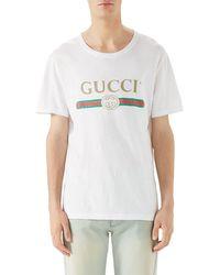 70d41aab86f8 Gucci Sega Logo Cotton Tee in Black for Men - Lyst