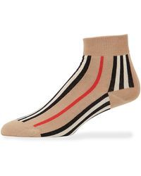 Burberry - Icon Stripe Ankle Socks - Lyst