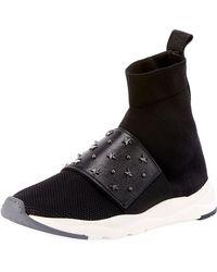 Balmain - Cameron Studded Mesh Sneakers - Lyst