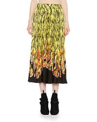 Prada - Banana Flame A-line Ankle-length Skirt - Lyst