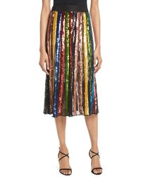 Alice + Olivia - Tianna High-rise Sequin Lace Midi Skirt - Lyst
