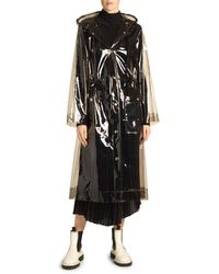 Proenza Schouler Hooded Transparent Raincoat - Gray