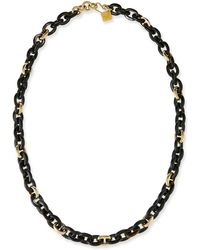 Ashley Pittman - Meli Dark Horn & Bronze Link Necklace - Lyst