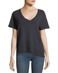 Current/Elliott - V-neck Short-sleeve Cotton Tee - Lyst