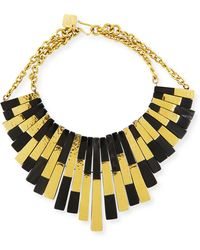 Ashley Pittman - Kifalme Dark Horn & Bronze Bib Necklace - Lyst