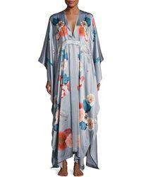Meng | V-neck Floral-print Silk Wrap | Lyst