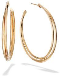 Lana Jewelry - 14k Gold Twist Hoop Earrings - Lyst
