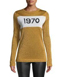 Bella Freud - 1970 Gold Fine-knit Jumper - Lyst