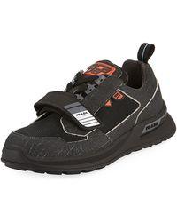 Prada - Men's Vitello Sport Sneakers With Grip-strap Detail - Lyst