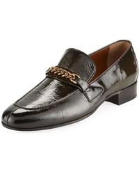 29cd1b6cae5 Tom Ford - Patent Leather Curb-chain Loafer - Lyst