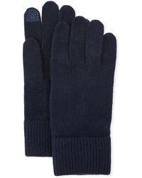 Portolano - Cashmere Touchscreen Gloves - Lyst