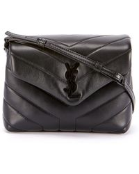 0e20223ac43b Lyst - Saint Laurent Toy Ysl Cabas Bag In Black Leather And Suede in ...