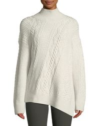 Vince - Diagonal Cable-knit Turtleneck Sweater - Lyst