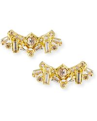 Armenta - Sueno 18k Diamond & Sapphire Cluster Stud Earrings - Lyst