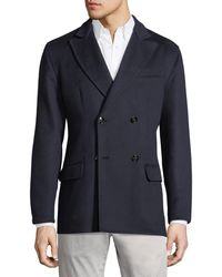 Kiton - Cashmere Double-breasted Coat - Lyst