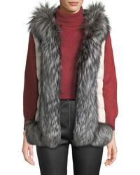 Post Card - Ganesha Down-fill Vest W/ Fur Trim & Hood - Lyst
