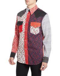 CALVIN KLEIN 205W39NYC - Men's Floral-pieced Western Shirt - Lyst