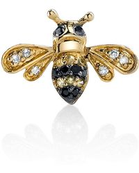 Sydney Evan - 14k Gold Diamond & Sapphire Bee Stud Earring (single) - Lyst