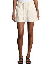 Helmut Lang | Drawstring Pull-on Cotton Shorts | Lyst