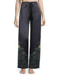 Meng - Floral-print Silk Pyjama Trousers - Lyst