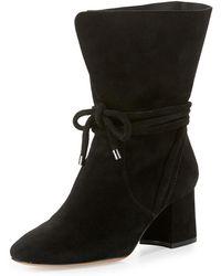Alexandre Birman - Suede 70mm Ankle-tie Boots - Lyst