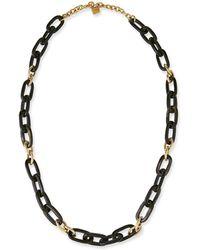 Ashley Pittman - Manjano Dark Horn & Bronze Link Necklace - Lyst