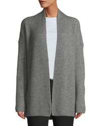 Vince - Ribbed Open-front Yak-wool Cardigan - Lyst
