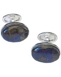 Jan Leslie - Silver Ammolite Cuff Links - Lyst