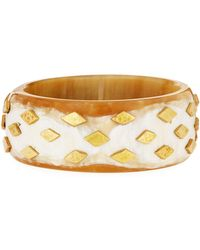 Ashley Pittman - Mila Studded Light Horn Bangle - Lyst