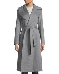 Fleurette - Maxi Wrap Wool Coat - Lyst