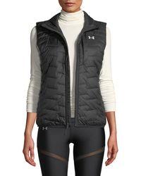 Under Armour - Coldgear Reactor Zip-front Activewear Vest - Lyst