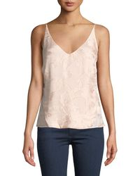 J Brand - Lucy Floral Jacquard V-neck Camisole - Lyst