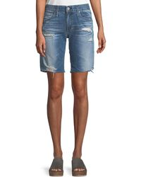 AG Jeans - Nikki Distressed Relaxed Skinny Shorts - Lyst