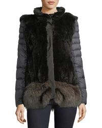 Post Card - Ortles Two-piece Fur Vest & Quilted Puffer Jacket - Lyst