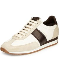 Orford Leather And Suede-trimmed Nylon Sneakers - Leaf greenTom Ford U53qywm