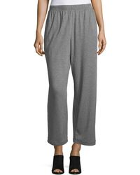 Eskandar - Cropped Pima Cotton Trousers - Lyst