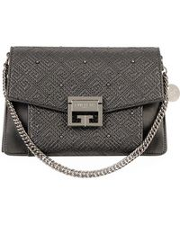 Givenchy - Gv3 Small Lamb Leather Satchel Bag - Lyst