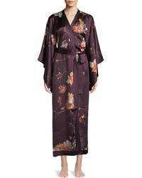 Meng - Floral-print Silk Kimono Caftan - Lyst