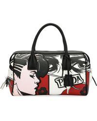 Prada | Comic Face Grace Lux Duffel Bag | Lyst
