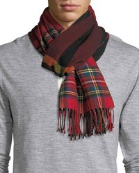 Burberry - Men's Vintage Check To Check Scarf - Lyst