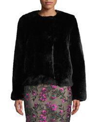 MILLY - Boxy Faux Fur Jacket - Lyst
